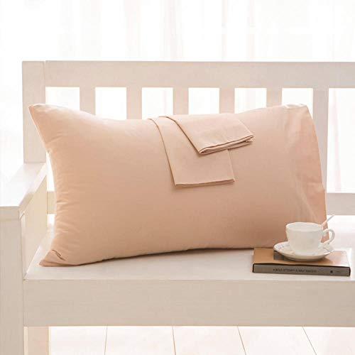 HNLHLY Funda de Almohada de algodón Funda de Almohada de Color Puro Ropa de Cama Múltiples tamaños Disponibles, 1pcs-F_47x150cm