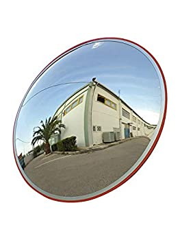 Convex Traffic Mirror 24  for Driveway Warehouse and Garage Safety or Store and Office Security with Adjustable Wall Fixing Bracket to Eliminate Blind Spots and Corners Indoor and Outdoor