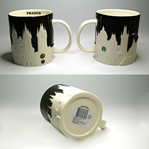 Starbucks Kaffeebecher Kaffee Tee Tasse Becher Prag Prague Relief Black Version