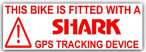 Platina plaats 5 x Bike Security Stickers-GPS Tracker-30x87mm-Tracking Device, Waarschuwing-berg, Fiets, Racing, Fietsen, Fietsen, Motorfiets, Motorfiets, Motorfiets, BMX-Shark alarmsystemen