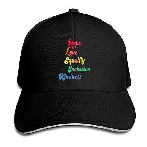 MASHRO Hombres Mujeres Igualdad Amabilidad Esperanza Inclusión Amor Gorra de Camionero Gorra de béisbol