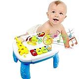 Yissma Musical Lerntisch Babyspielzeug Früherziehung Spielzeug Music Activity Center Tisch Elektronische Pädagogische Spielzeug Kleinkinder Spielzeug für 6 bis 12 Monate