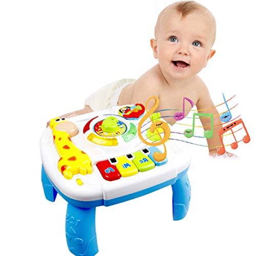 Yissma Musical educatieve speelgoed, speelgoed, speelgoed, muziek, activity cent, tafel, elektronisch pedagogisch speelgoed, peuters, speelgoed voor 6 tot 12 maanden