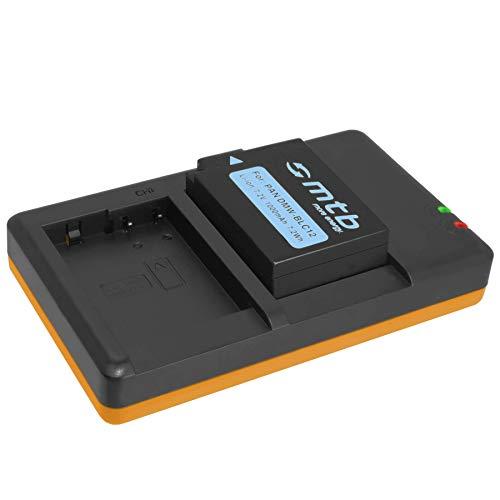 Akku + Dual-Ladegerät (USB) kompatibel mit Panasonic DMW-BLC12(E) / Lumix DMC-FZ200, FZ300, FZ1000 (II), FZ2000. / Sigma dp Quattro/Leica Q (Typ 116) - s. Liste (inkl. Micro-USB-Kabel)