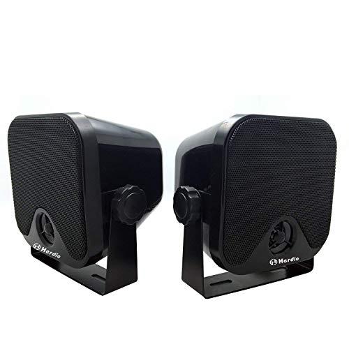 wasserdichte Marine-Lautsprecher Wandmontage 4-Zoll-Box-Lautsprecher Wasserdicht IP66 für Boat Spa ATV UTV Badezimmer 60 Watt (120 Watt ein Paar)