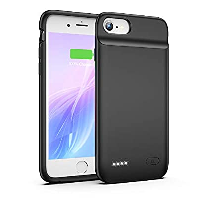 OMEETIE Battery Case for iPhone 6 6s, 3200mAh Charging Case Portable Protective Charger Case for iPhone 6 6s(4.7inch)-Black