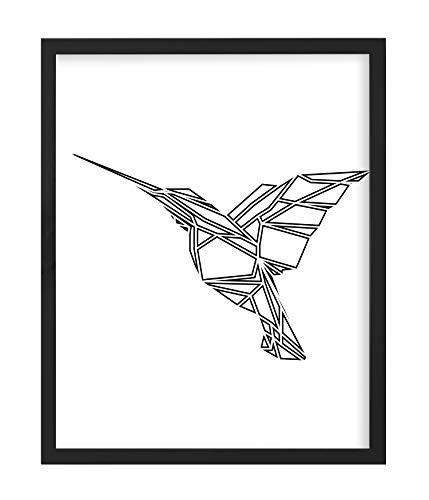 Postergaleria Bilderrahmen | 40x50 | Schwarz | Holz | Plexiglas | 8 Farben | 5 Größen | Posterrahmen | Fotorahmen