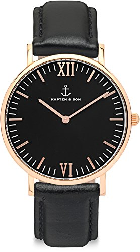 Kapten & Son Unisex-Uhren 36 Schwarz 32003706