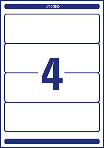Avery Zweckform L4761-100 Ordnerrücken Etiketten (A4, 400 Rückenschilder, breit/kurz, selbstklebend, blickdicht, 61 x 192 mm) 100 Blatt weiß - 6