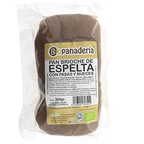 Biopanadería Pan Brioche de Espelta Integral con Pasas y Nueces Ecológico Artesano