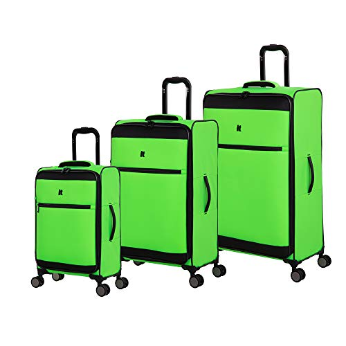 neon green luggage set