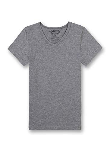 Sanetta Jungen Shirt 1/2 Unterhemd, Grau (Elite Grey Mel. 1914), 140