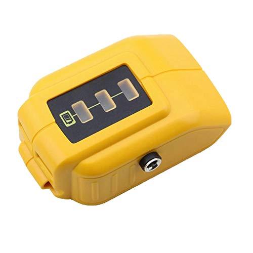Zarfmiya Cargador Convertidor USB Compatible con DE18V Adecuado para Adaptador de BateríA de Litio de 12V 18V 20V DCB091