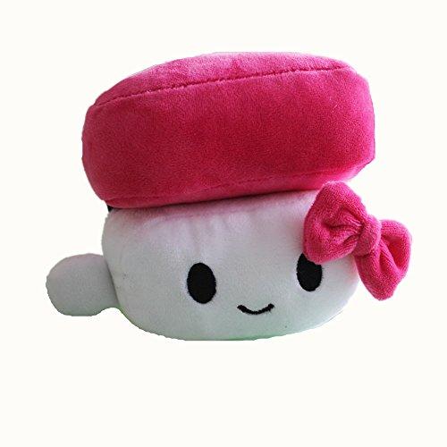 VineCrown Cojín de felpa para sushi de huevo de comida japonesa, relleno de peluche, decoración de muñecas, regalos de apoyo para brazo de dormir (rosa)