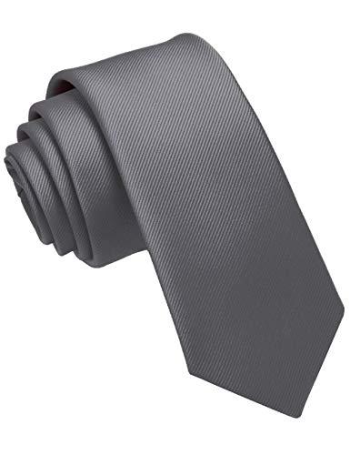 JEMYGINS Krawatte Grau schmale Krawatten für Herren seide Hochzeit Schlips (9)