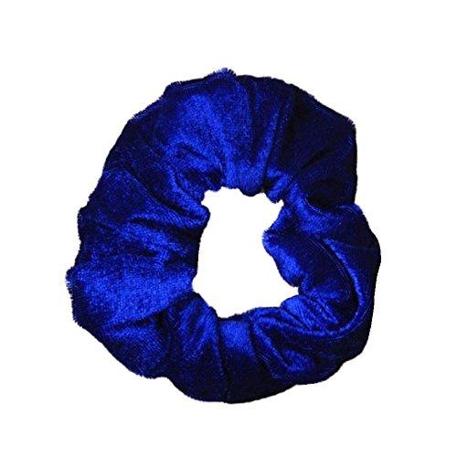 Toucher velours Bleu Royal Chouchou à cheveux Bandeau élastique de taille moyenne