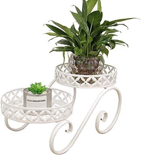 LUSTAR 2-Tieredmetal Flower Pots Ranking TOP20 Holder Store Plant Modern Iron Stand