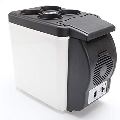 Anjin Mini-koelkast, 12 V, 6 liter, draagbare thermo-elektrische koelbox/verwarmingsbox
