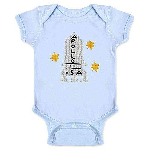 Apollo 11 Retro Knit Sweater Style Costume Light Blue 6M Infant Baby Boy Girl Bodysuit