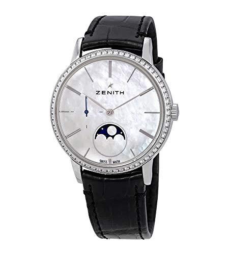Zenith Elite 16.2320.692/80.C714 - Reloj de pulsera para mujer con esfera de nácar, color blanco