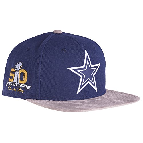 New Era Dallas Cowboys SB50 Suede Vize On The Fifty Snapback Cap Kappe 9fifty