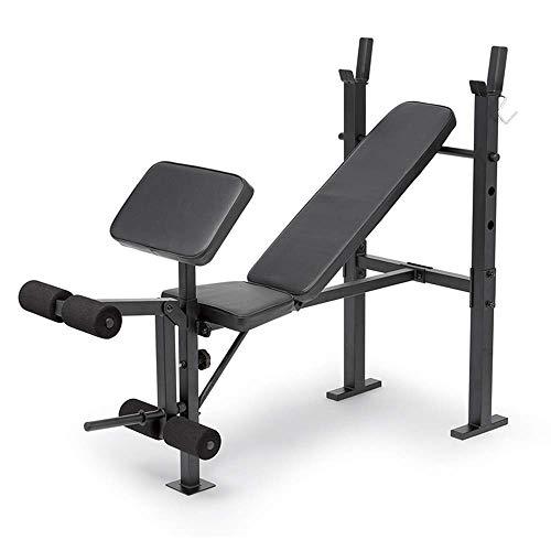 DBSCD Fitness-Trainingsgeräte, Standard-Hantelbank, Home-Multifunktions-Hantelbank, dreistufiges Rückenpolster, Schaumstützrad