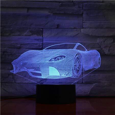 Genial lámpara de Repuesto de Color para Coche Deportivo ilusión de acrílico óptico con Cable Compatible con batería Regalo de Novio Infantil