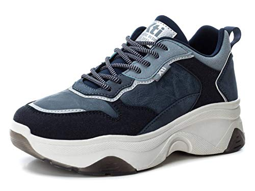 XTI 49277, Zapatillas Mujer, Azul (Navy Navy), 37 EU