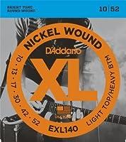 D'Addario EXL140 Light Top/Heavy Bottom (10-52) ダダリオ エレキギター弦 ニッケル EXL-140 【国内正規品】