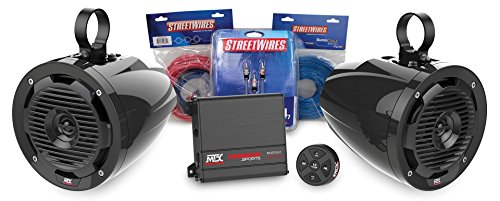 MTX Motorsports BORVKIT1 Bluetooth Controlled Sound System. Tower 2-Speaker & Amplifier Off-Road Motorsports Package