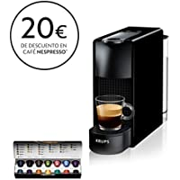 Krups Nespresso XN1108 Essenza Mini Cafetera de cápsulas, 1260 vatios, negra, 0.6 litros (Pack Cápsulas bienvenida incluido)