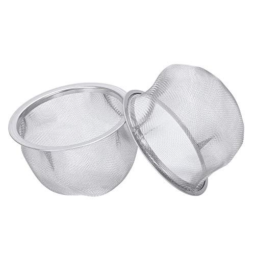 SODIAL 2 piezas Escurridor de acero inoxidable Colador de te de malla Filtro de tetera Plata