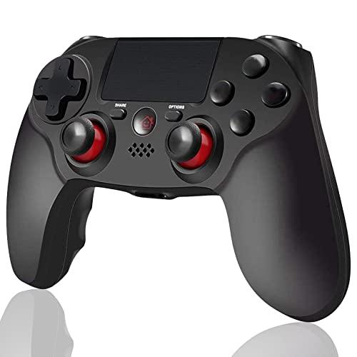 BMSARE Manette PS4, Bluetooth sans Fil Game Joystick Gamepad Manettes pour PS4 Slim/Pro avec 6 Axes Gyro Sensor et Dual Shock Vibration, Audio Microphone et Écran Tactile