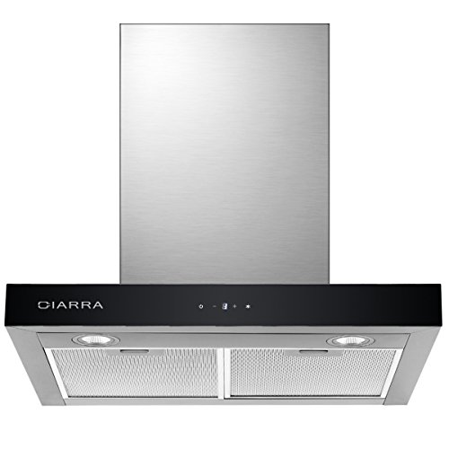 CIARRA CBCS6102 Touch Control Chimney Cooker Hood 60 cm Wall Mount...
