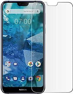 شاشة حماية زجاجية شفافة اتش دي لهاتف نوكيا 7.1