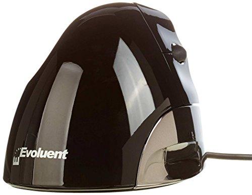 Evoluent ergonomische Rechte Hand Vertical Maus (2600dpi, USB) Silber/schwarz