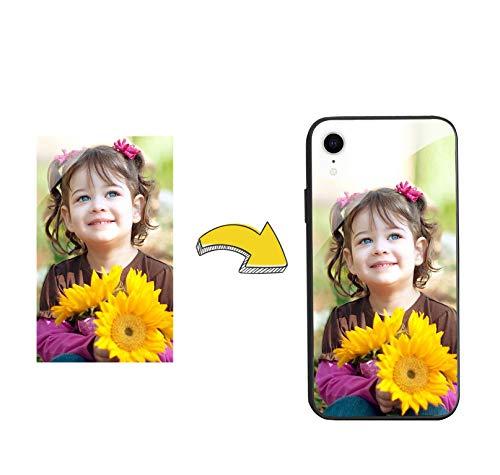 VGANA Personalizada Funda para Samsung Galaxy A50, Placa Posterior de Vidrio con Foto y el Texto Que Quieras - Personalizar