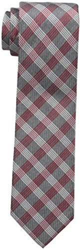 Calvin Klein Men's Red Hot Plaid Tie, Charcoal, One Size