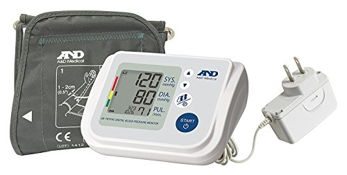 monitor with blood pressures A&D Medical Upper Arm Blood Pressure Monitor for Up to 4 Users, Includes AC Adapter (UA-767FAC)