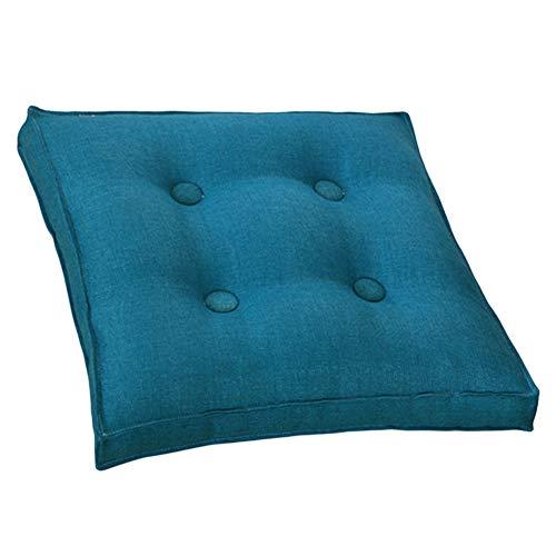 YYRZ Wicker Seat Cushion, Patio Furniture Cushions Solid Square Home Floor Cushion Wicker Seat Cushion 40X40cm (Peacock Blue),Peacockblue,40x40
