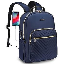 LOVEVOOK Sac à dos pour ordinateur portable – Étanche – 15,6 pouces – Grand sac à dos d'école – Avec port de charge USB…
