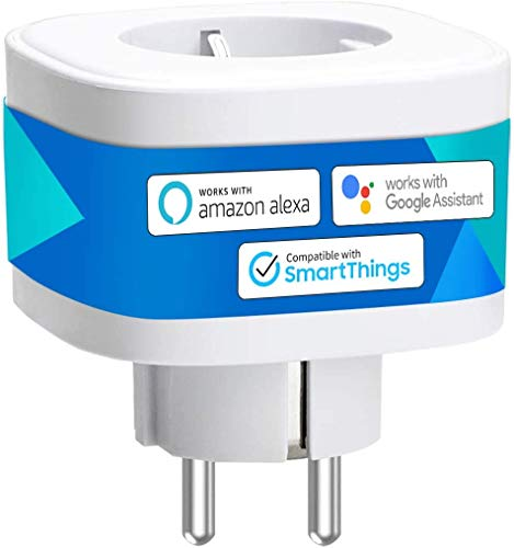 Enchufe Inteligente 16A 3680W, con Control Remoto Meross app, Compatible con Alexa, Google Assistant y SmartThings, Wi-Fi Smart Plug