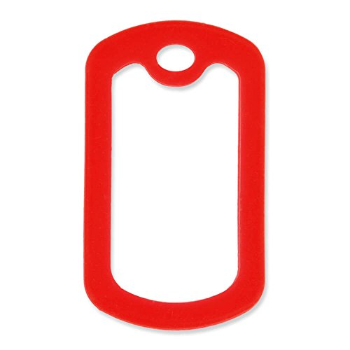 PinMart 5 Pack Military Style Dog Tag Silicone Silencer - Red
