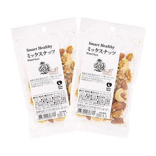 [ナチュラルハウス] ドライフルーツ ミックスナッツ 70g×2袋 オーガニック (アーモンド、クルミ、カシューナッツをバランスよく配合)