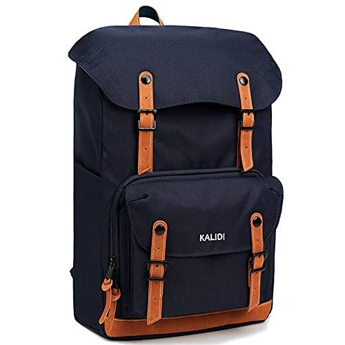 KALIDI Backpack Men Stylish Laptop Backpack Casual Lightweight Rucksack Travel Hiking Outdoor Backpack Schoolbag for 20 Inch Laptop