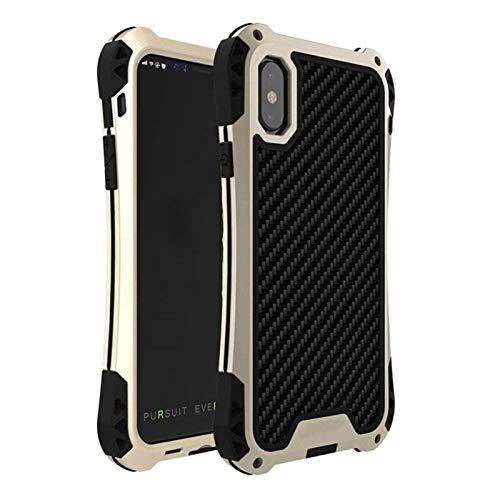 YLFC Funda Prueba De Golpes para iPhone, Funda Rígida De Lujo A Prueba De Golpes para iPhone 11 Pro MAX X 8 7 Plus XS XR XS MAX (Color : Gold Black, Size : For iPhone 7 Plus)