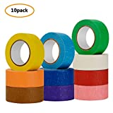 Colored Masking Tape,10 Pcs Colored Painters Tape with Rainbow Colors for Kids Craft Art Projects in 1 Inch x 48ft (25mm x 15m) Labelling or Coding Rolls for Home Decoration, Office Supplies