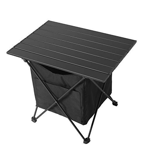 YAHILL Tragbarer Campingtisch Leichter Aluminiumtisch mit Tragetasche für Picknick, Camp, Angeln, Strand, Gartengrill Nützlich zum Essen, Kochen mit Brenner & Leicht zu reinigen