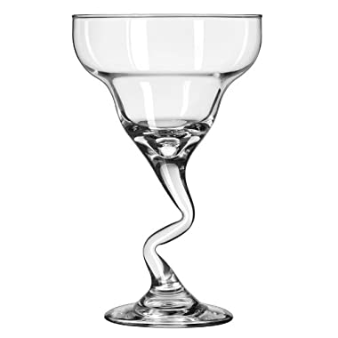 Libbey 12-Ounce Z-Stem Margarita Glass, Clear, 4-Piece