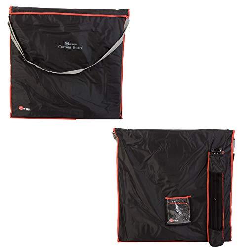 Ubergames Carrom Brett Tasche - Top Qualität Tragetasche - 95x95 cm - Separate Fächer für Board, Zubehör und Ständer - extra Schutz - ohne Carrom Brett und Stander